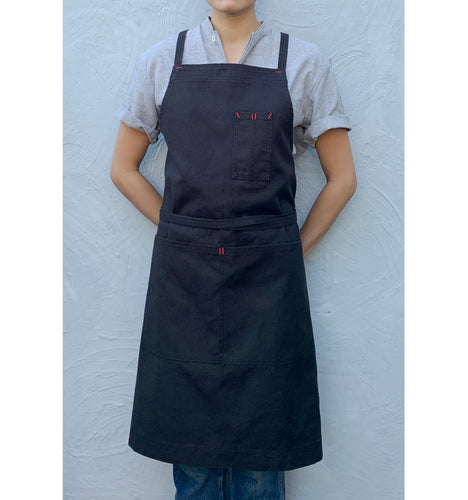 Black Full Cross-Back Apron