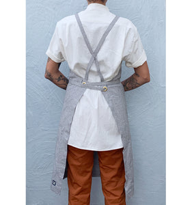 Light Gray Full Cross-Back Apron