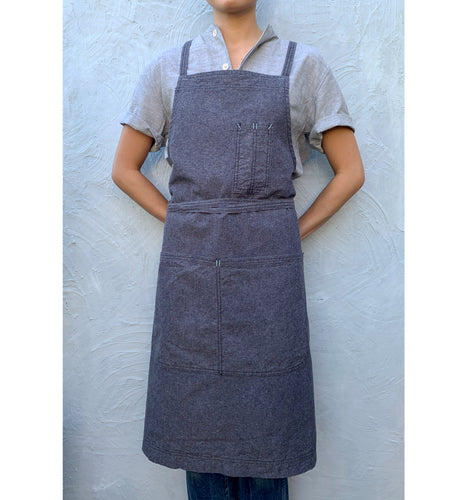 Blue Slate Full Cross-Back Apron