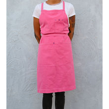 Load image into Gallery viewer, Zinnia Pink Full Cross-Back Apron