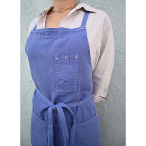 French Indigo Full Cross-Back Apron