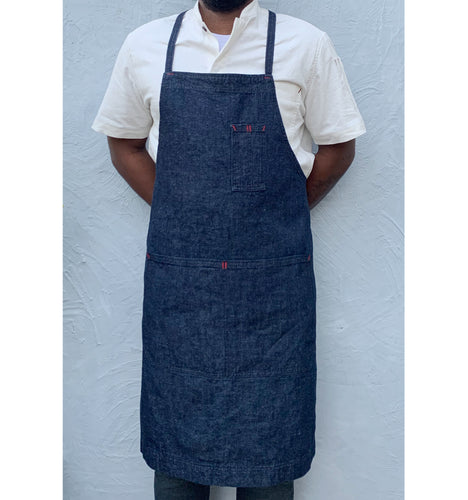 Denim Full Cross-Back Apron