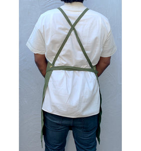 Dark Green Full Cross-Back Apron