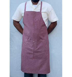 Grenache Red Full Cross-Back Apron