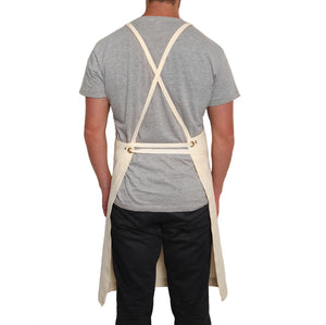 "Natural ""Light Weight"" Full Cross-Back Apron"