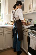 Load image into Gallery viewer, Dark Brown Full Cross-Back Apron