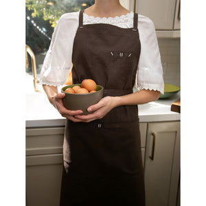 Dark Brown Full Cross-Back Apron