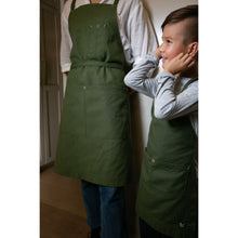 Load image into Gallery viewer, Dark Green Full Cross-Back Apron