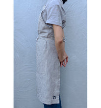 Load image into Gallery viewer, Indigo / Natural Striped Full Cross-Back Apron