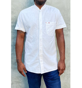 Le Metier, Short-Sleeve Work Shirt in Hemp / Organic Cotton