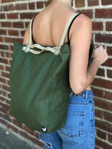 Dark Green Convertible Tote-Pack
