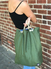 Load image into Gallery viewer, Dark Green Convertible Tote-Pack