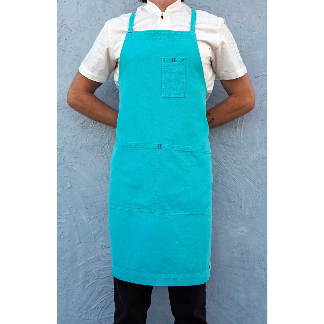 Aquamarine Full Cross-Back Apron