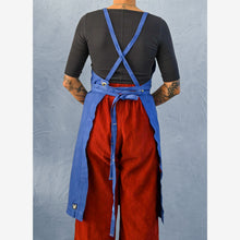 Load image into Gallery viewer, Egyptian Indigo Lightweight Full Cross-Back Apron