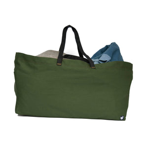 Dark Green Oversized Swede Tote