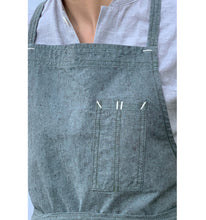 Load image into Gallery viewer, Moss Green Full Cross-Back Apron