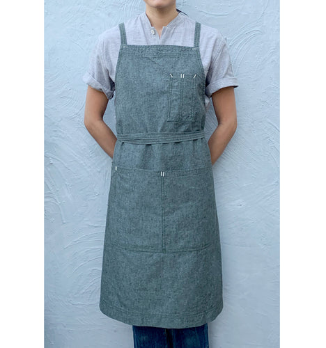 Moss Green Full Cross-Back Apron