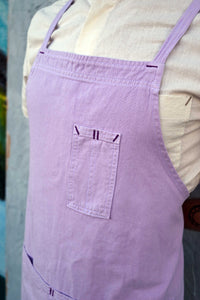 Lavender Full Cross-Back Apron