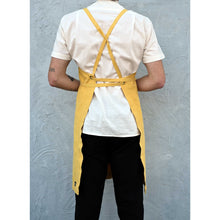 Load image into Gallery viewer, Mustard Full Cross-Back Apron