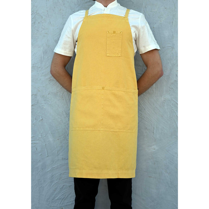 Mustard Full Cross-Back Apron