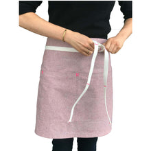 Load image into Gallery viewer, Pink Bistro Apron (with matching straps)