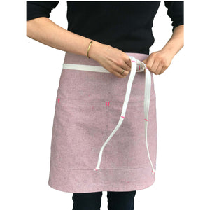 Pink Bistro Apron (with matching straps)