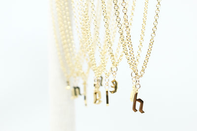New Initial letter  Gold Necklaces