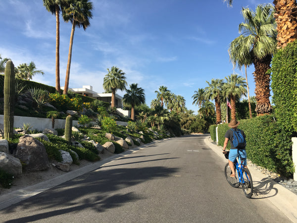 Biking through Palm Springs, California