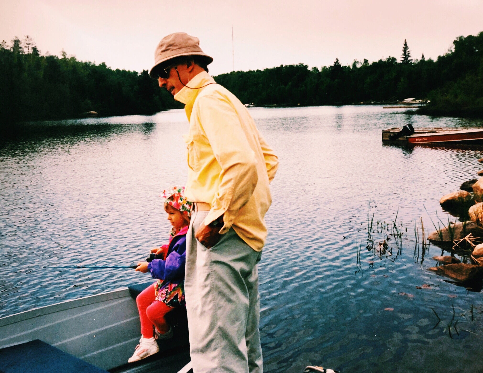 Founder and Grandpa - Fishing on Trout Lake - North Bay Ontario