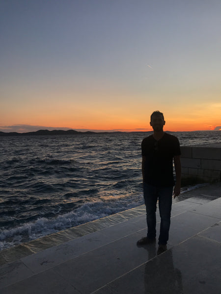 Sunset at the Sea Organ, Zadar Croatia