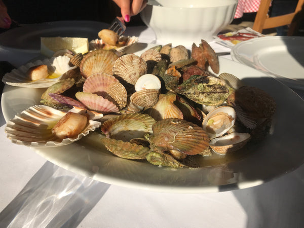 Scallops and clams at Batelina Restaurant in Pula, Croatia