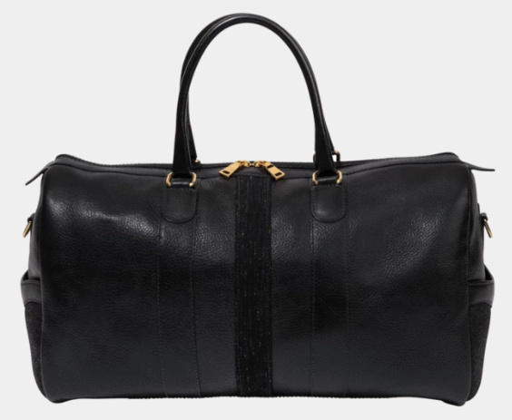 Monte + Coe - Black Leather Weekender Bag