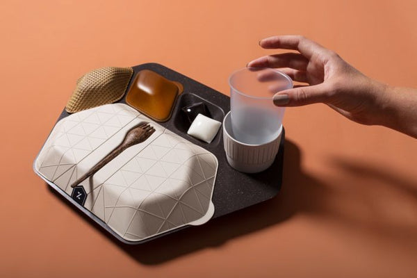 Edible Aircraft Food Tray - How to Fly Sustainably - Reduce in flight Waste