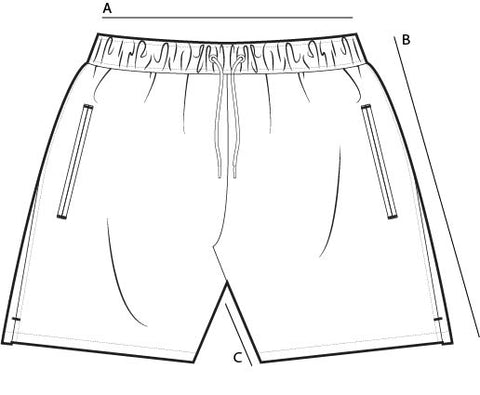 Copper Bottom Swim - Size Guide - Trunks