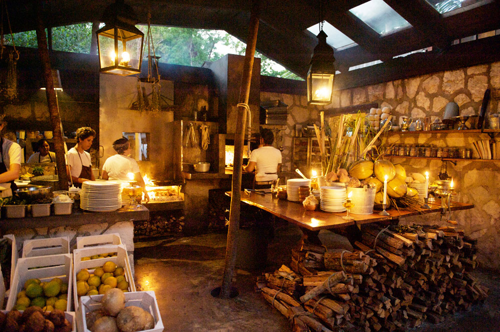 Hartwood Restaurant - Tulum Mexico - Sustainable Eating - Open Kitchen