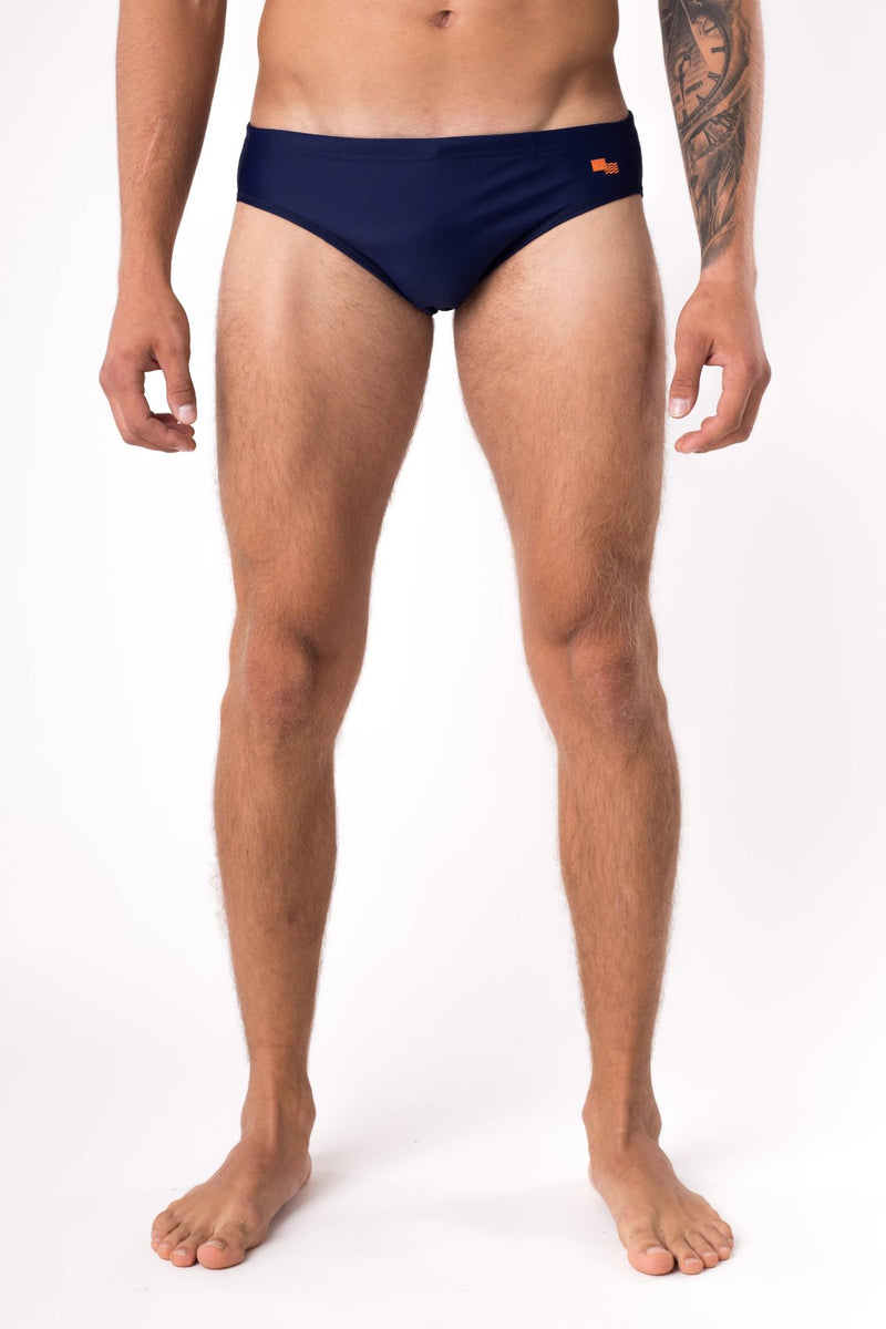 Navy blue swim brief speedo - Copper Bottom Swim