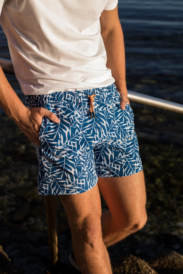 Men's Swim Trunk in Cobalt Blue - Copper Bottom Swim