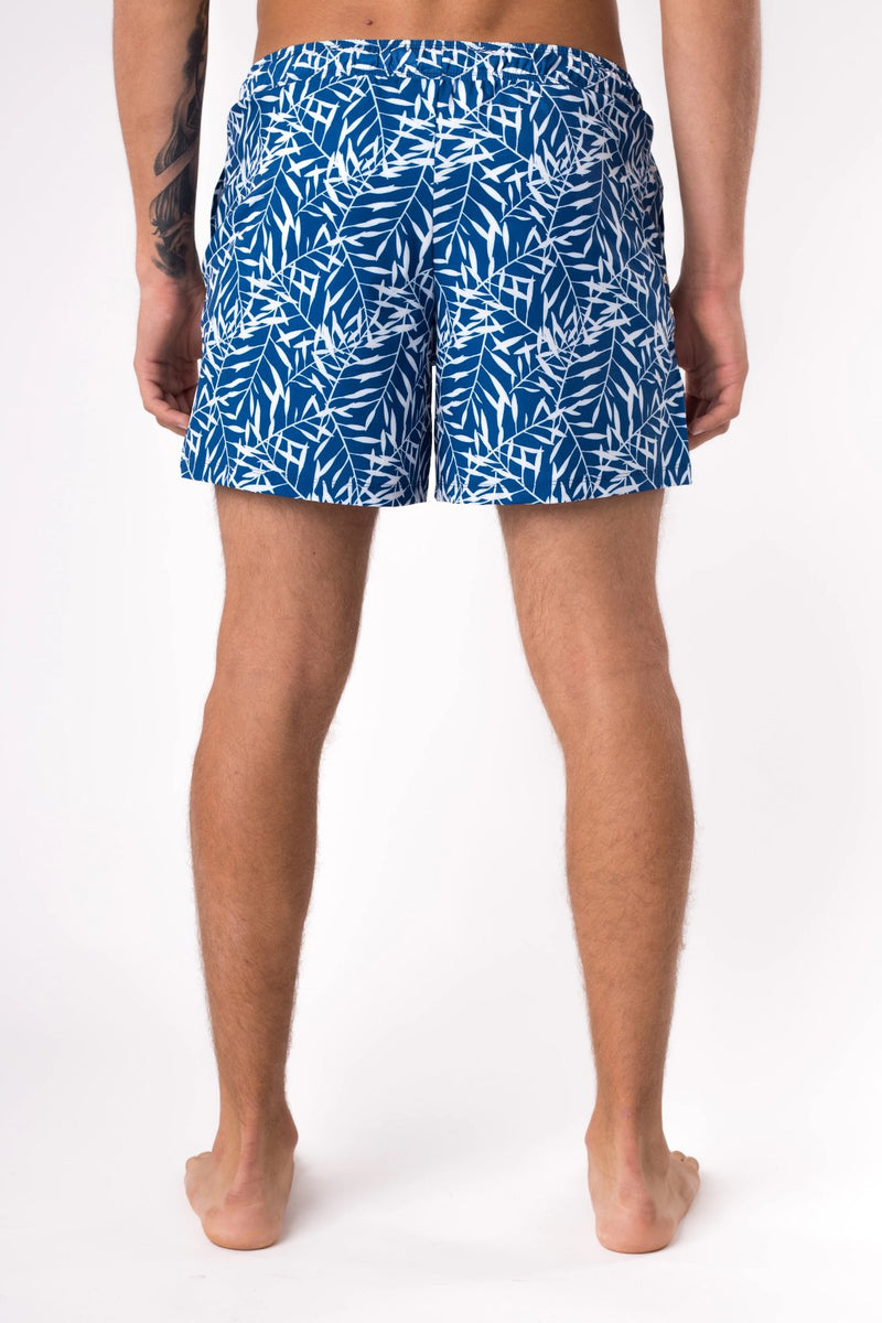 Blue swim trunks for men - Copper Bottom Swim