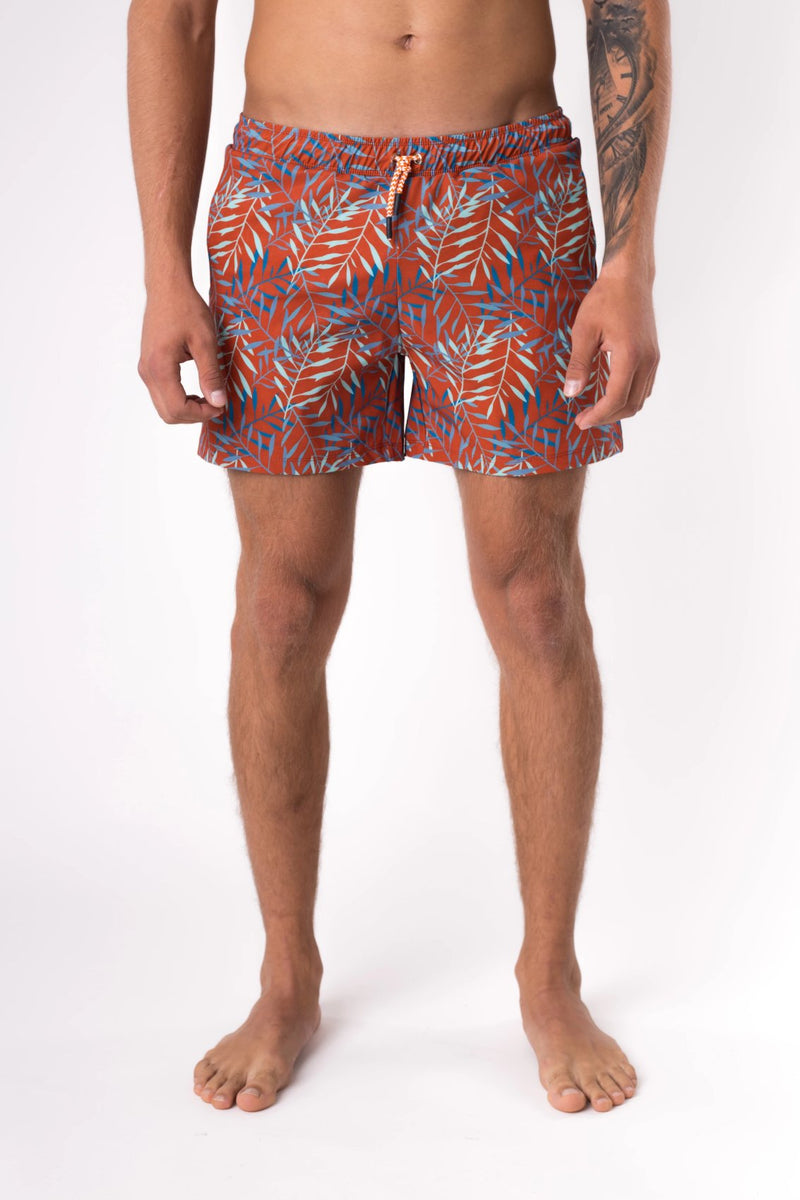 Swim shorts for men in burnt orange - Copper Bottom Swim