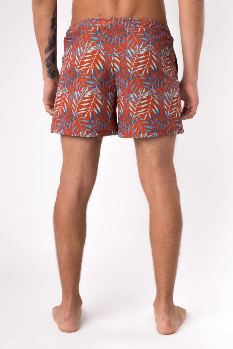 Men's swim shorts in orange  - Copper Bottom Swim