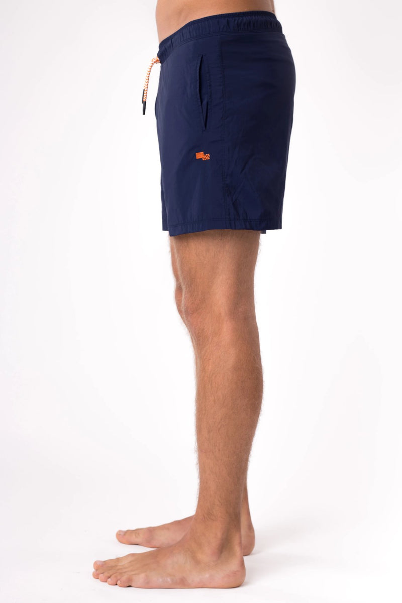 Navy blue men's swim shorts  - Copper Bottom Swim