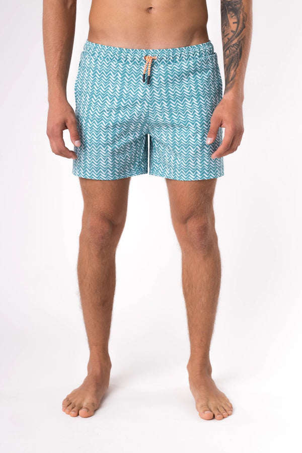 Teal swim shorts for men - Copper Bottom Swim