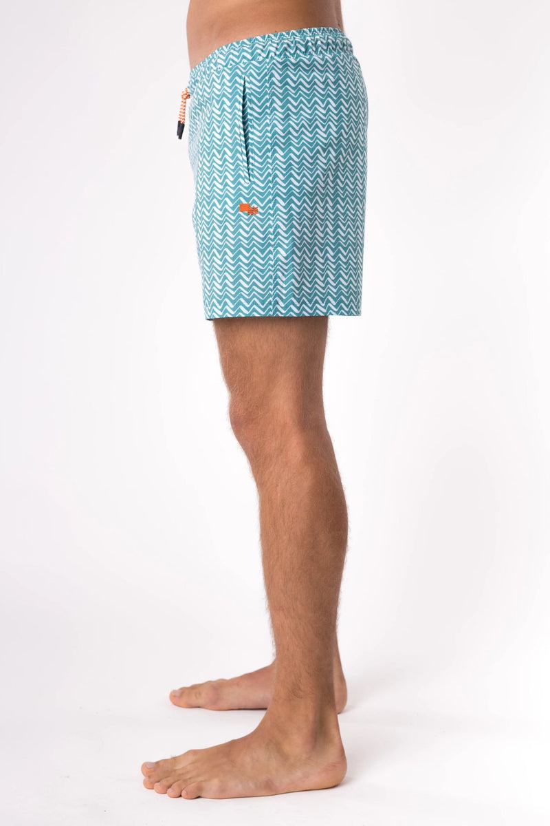 Men's swim shorts in teal - Copper Bottom Swim