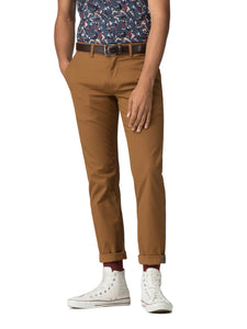 Pantalón Slim Stretch Chino - Camel