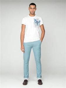 Pantalón Skinny Stretch Chino - Teal