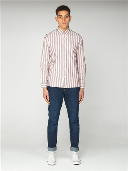 Camisa Oxford Ivy Stripe - Light Pink