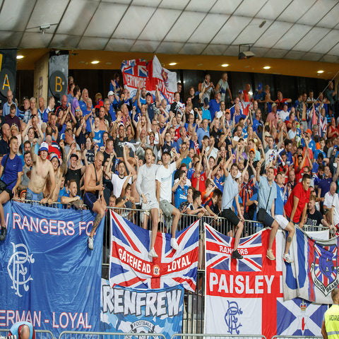 Rangers Maribor Fans Heart and Hand