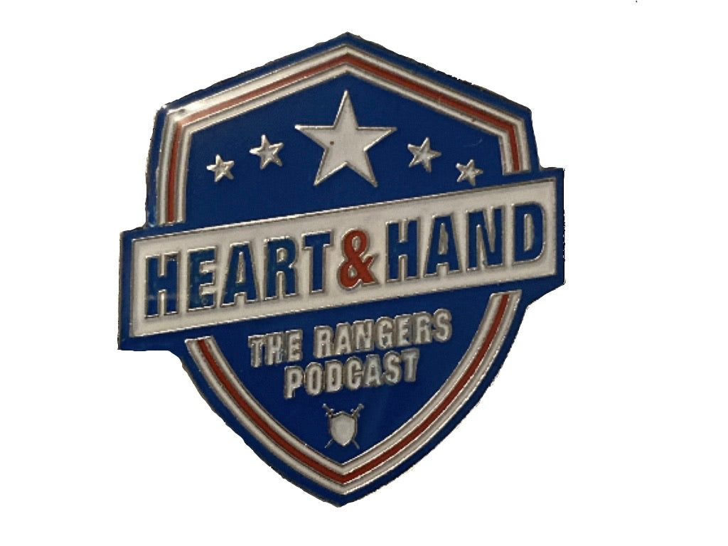 Heart and Hand Pin