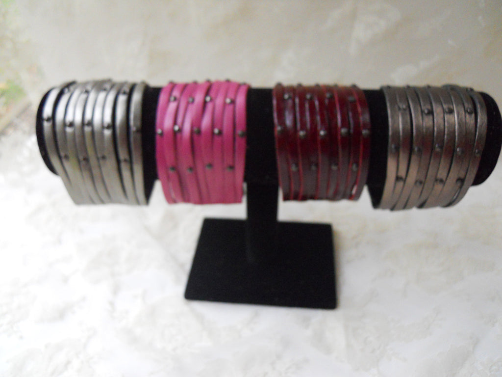 "2"" Rivet Leather Bracelet"