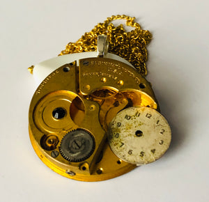 Time in Time Gold Antique Pocket Watch Necklace